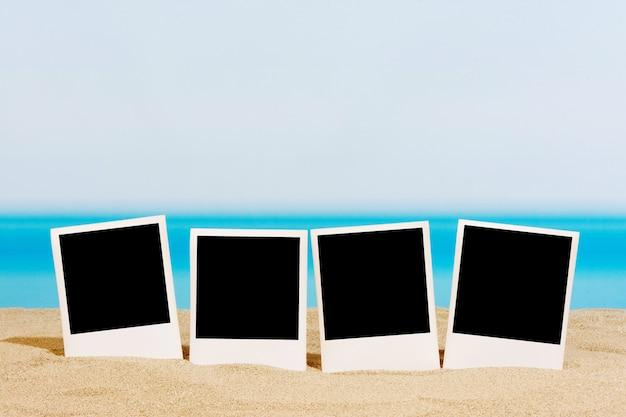 Fotos na praia na areia