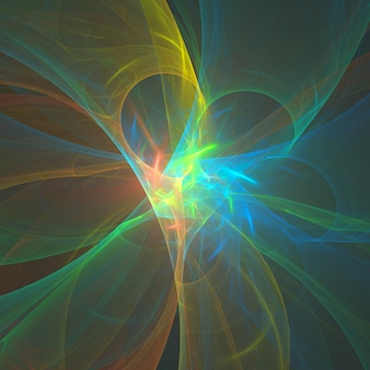 Fractal colorido abstrato