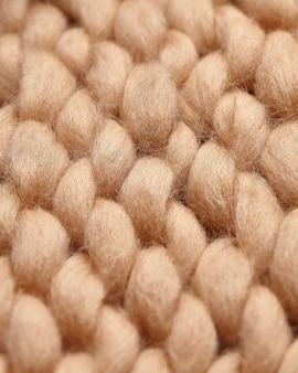Fragmento de cobertor tricotado à mão de lã merino