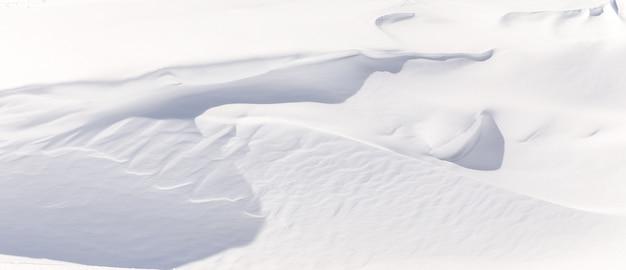 Fragmento de neve fresca