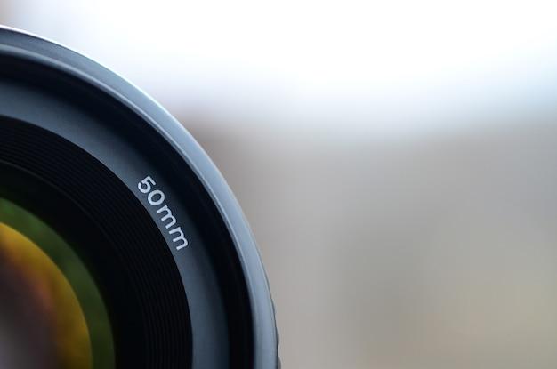 Fragmento de uma lente de retrato para uma câmera slr moderna