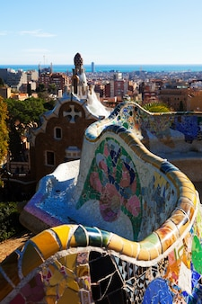 Fragmento do parque guell no inverno