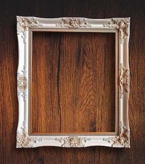 Frame de retrato de madeira rutic vintage velho