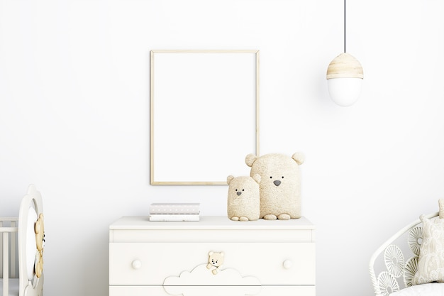 Frame mockup kids boho e bear plus