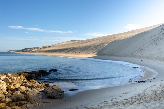 Francês, baía arcachon, e, a, pilat, duna areia, de, pyla, aquitaine, frança