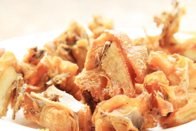 Frango frito em um prato