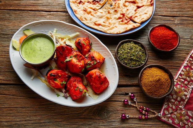 Frango tikka receita de comida indiana