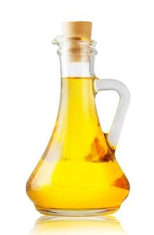 Frasco com óleo amarelo perfumado