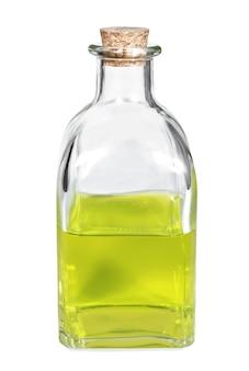 Frasco com óleo aromático close up