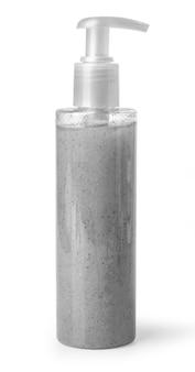 Frasco cosmético de plástico isolado no branco