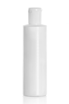Frasco cosmético plástico branco