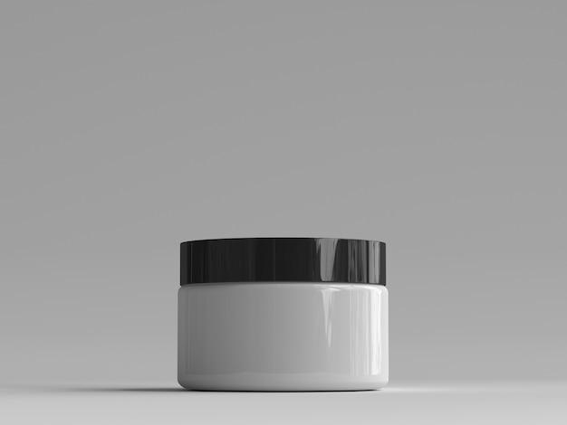 Frasco cosmético renderizado 3d sem etiqueta