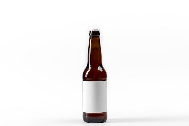 Frasco de álcool de vista frontal com rótulo em branco