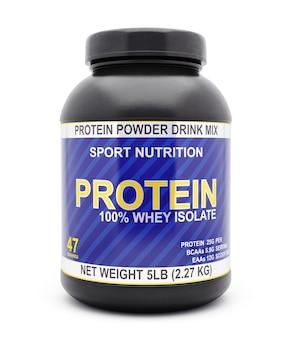 Frasco de proteína de soro de leite isolado