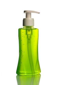 Frasco de sabonete líquido ou creme ou dispensadores de lavagem de rosto ou rolha líquida isolada.