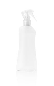 Frasco de spray em branco embalagem isolado no fundo branco