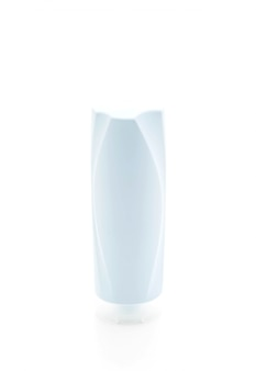 Frasco de xampu e frasco de condicionador em branco