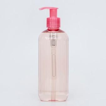 Frasco rosa de sabonete líquido