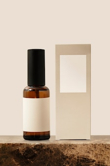 Frasco spray de óleo essencial, produto de beleza aromático