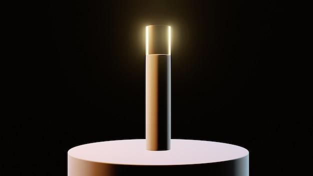Frascos de cosméticos com inserções de ouro em fundo preto, banner, maquete. foto de alta qualidade