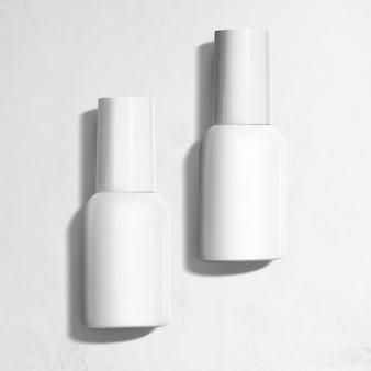Frascos de spray para branding e embalagem em estilo minimalista