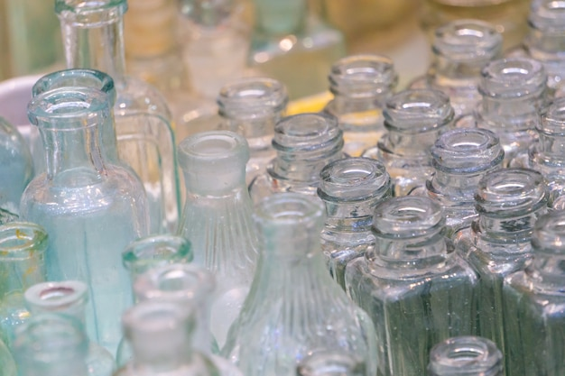 Frascos de vidro vazios para perfumes e cosméticos