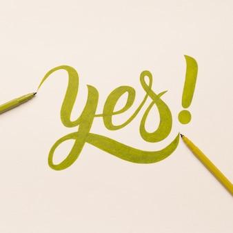 Frase motivacional de aprovação manuscrita com marcador verde