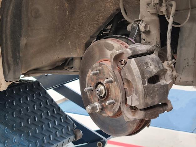 Freio a disco de manutenção do sistema de freio do carro