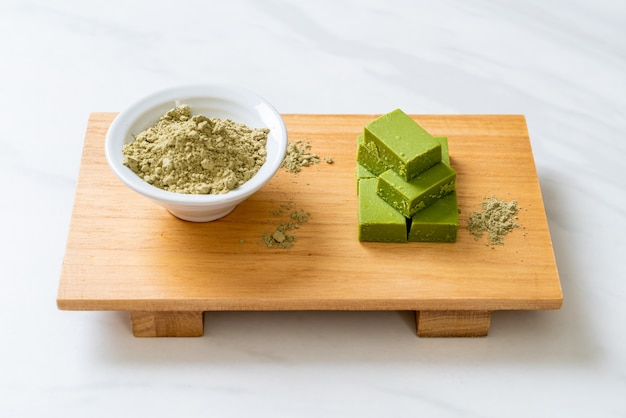 Fresco e macio matcha chá verde chocolate