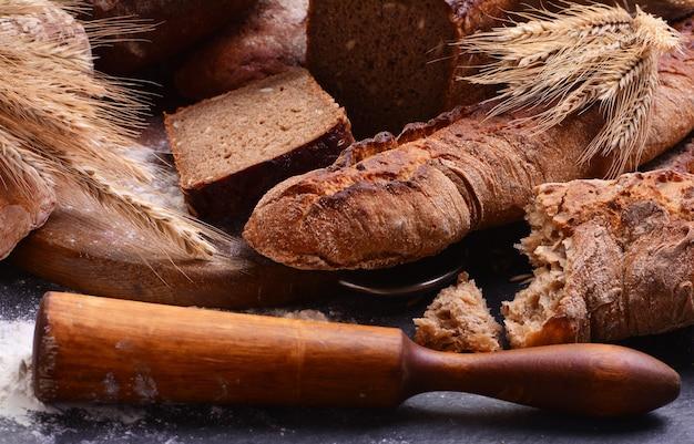 Frescura de pão perfumado das melhores variedades de trigo