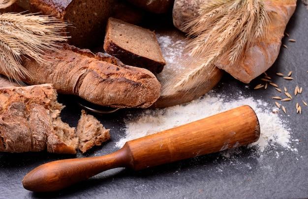 Frescura do pão perfumado das melhores variedades de trigo