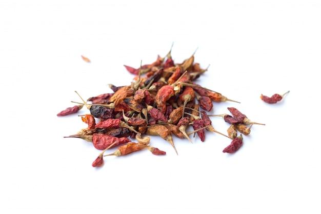 Frio vermelho seco isolado para sabor picante