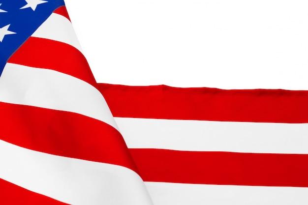 Fronteira da bandeira americana isolada em um fundo branco
