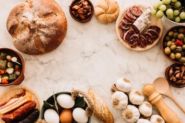 Fronteira de ingredientes culinários
