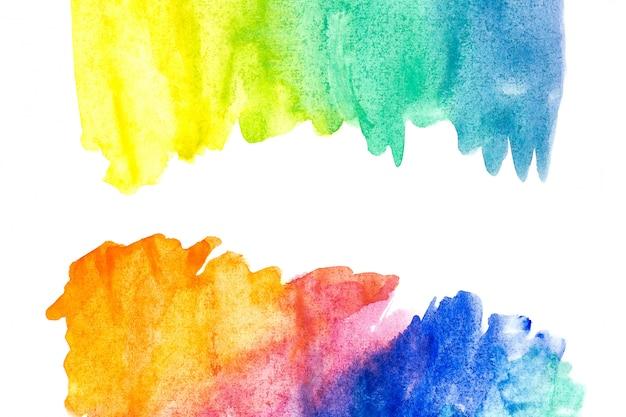 Fronteira de pintura de mão abstrata arte aquarela. fundo aquarela