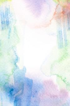 Fronteira de quadro de traçado de pincel aquarela.