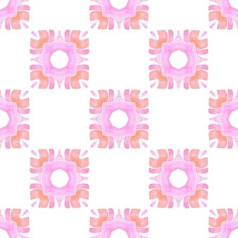 Fronteira sem costura exótica de verão. design de verão chique boho laranja agradável. têxtil pronto para impressão encantadora, tecido de biquíni, papel de parede, embrulho. padrão sem emenda exótico.