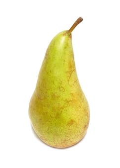 Fruta amarela pera isolada no branco