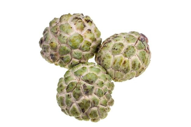 Fruta de annona da tailândia em fundo branco