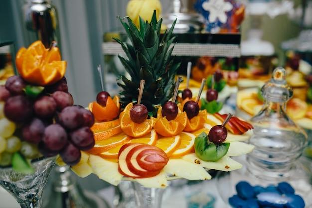 Fruta decorado com arte