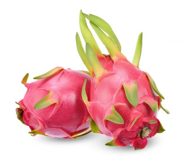 Fruta do dragão isolada no traçado de recorte branco