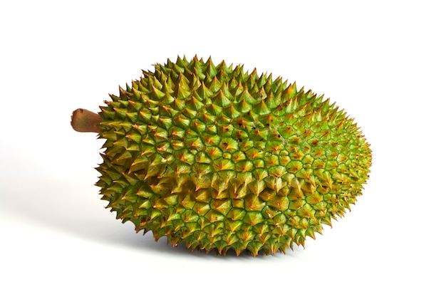 Fruta durian isolada no fundo branco