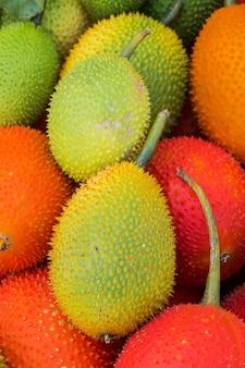 Fruta gac (momordica cochinchinensis)