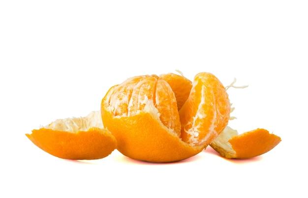 Fruta laranja descascada