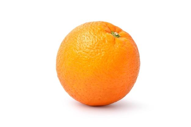 Fruta madura da laranja do umbigo isolada no fundo branco.