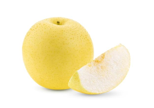 Fruta pêra isolada no branco