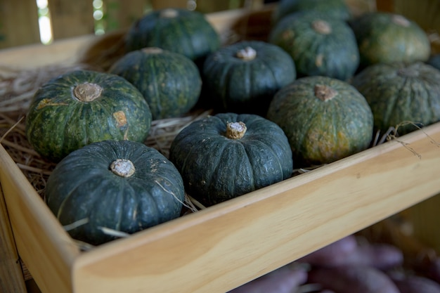 Fruta saudável fresca na fazenda para venda em um mercado