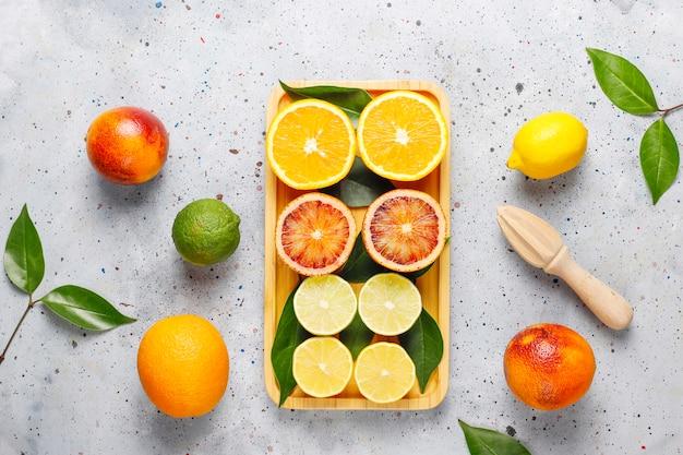 Frutas cítricas frescas sortidas