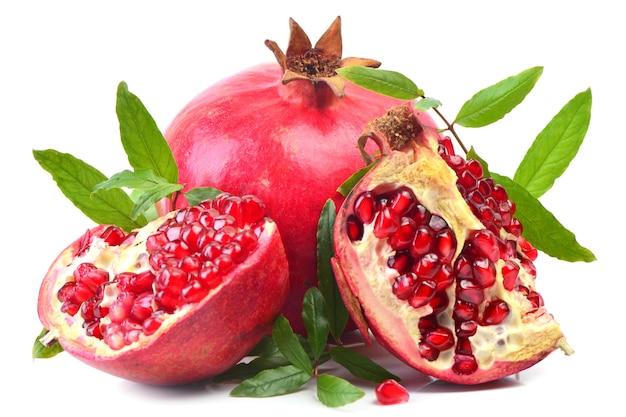 Frutas e sementes de romã