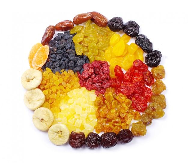 Frutas em branco